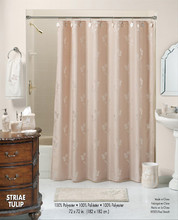 Striae Tulip Shower Curtain