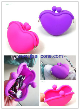 Heart Shaped Silicone Coin Wallet Purse