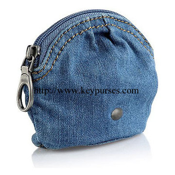 denim coin purse