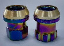 Spine color wheel lug nuts