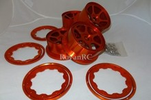 cnc orange aluminum 6 spoke buggy rims