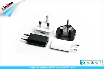 Intelligent Electronic Cigarettes Accessories , Eu / Usa / Uk Plug Usb Wall Charger For Apple / Samsung