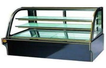 Glass Door Upright Cake Cooling Showcase Granite Base , Foo