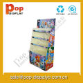 Book / Stationery Cardboard Floor Display Stands For Marketing