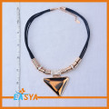 Simple Design Pendant Necklace With Big Acrylic Rhinestone For Women
