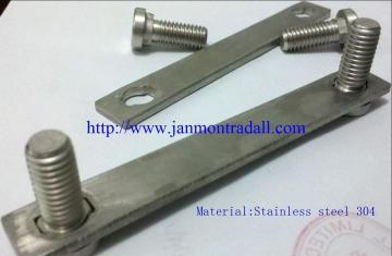 Stainless steel bolts,Stainless steel round head bolts,Stainless steel bolts with metal plates,Bolts with metal plates,Bolts