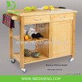 Lipper International Bamboo Kitchen Trolley With Drawer
