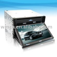 "Two Din Car DVD with 7"" fully Touch Screen,no button in the panel,build-in GPS/double SD card/USB/ Bluetooth/TV/AM/FM/MP4/CD/MP3"