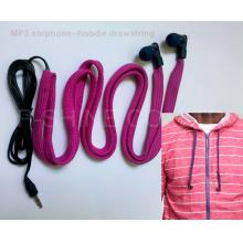 women's hoodie drawstrings washable headphones