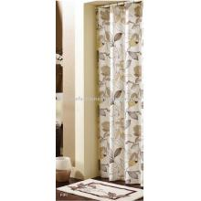 water lily printed shower curtain