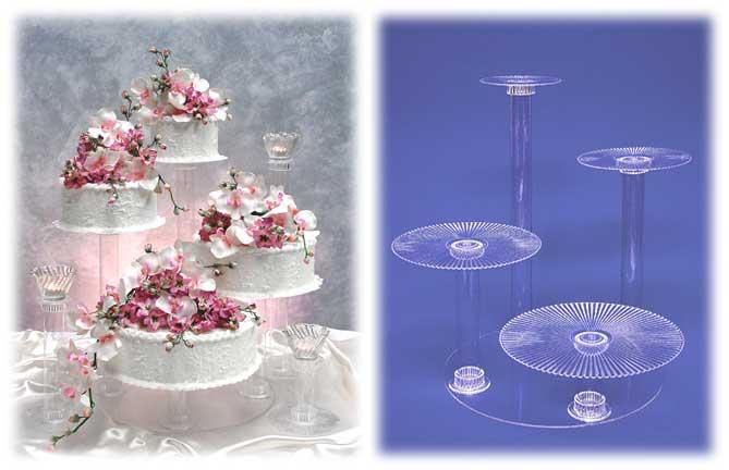 Acrylic Wedding Cake Display Stands