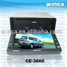 Two Din 6.2 inch Motorized Car DVD Player With TV/AM/FM/Bluetooth/USB/SD CARD/GPS/Touch screen