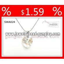 2013 Crystal jewelry silver necklace