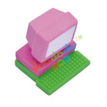 Purple Computer  Shaped Eraser