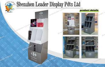 Portable Shop Corrugated Floor Greeting Card / Book Display