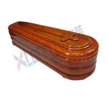 Satin Interior Wood Veneer Full Open Coffin