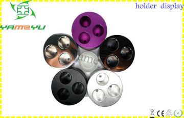Colorful Triple Holes Ego Battery Holder Base Display For E Cigarette Accessories