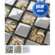Blue Color Metal Material Mosaic Tiles