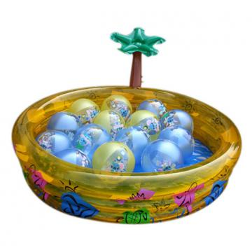 Oem Pvc Inflatable Swimming Pools For Child , Inflated Tree Play Game Pool