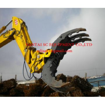 Hydraulic log grapple for 4-50ton excavator