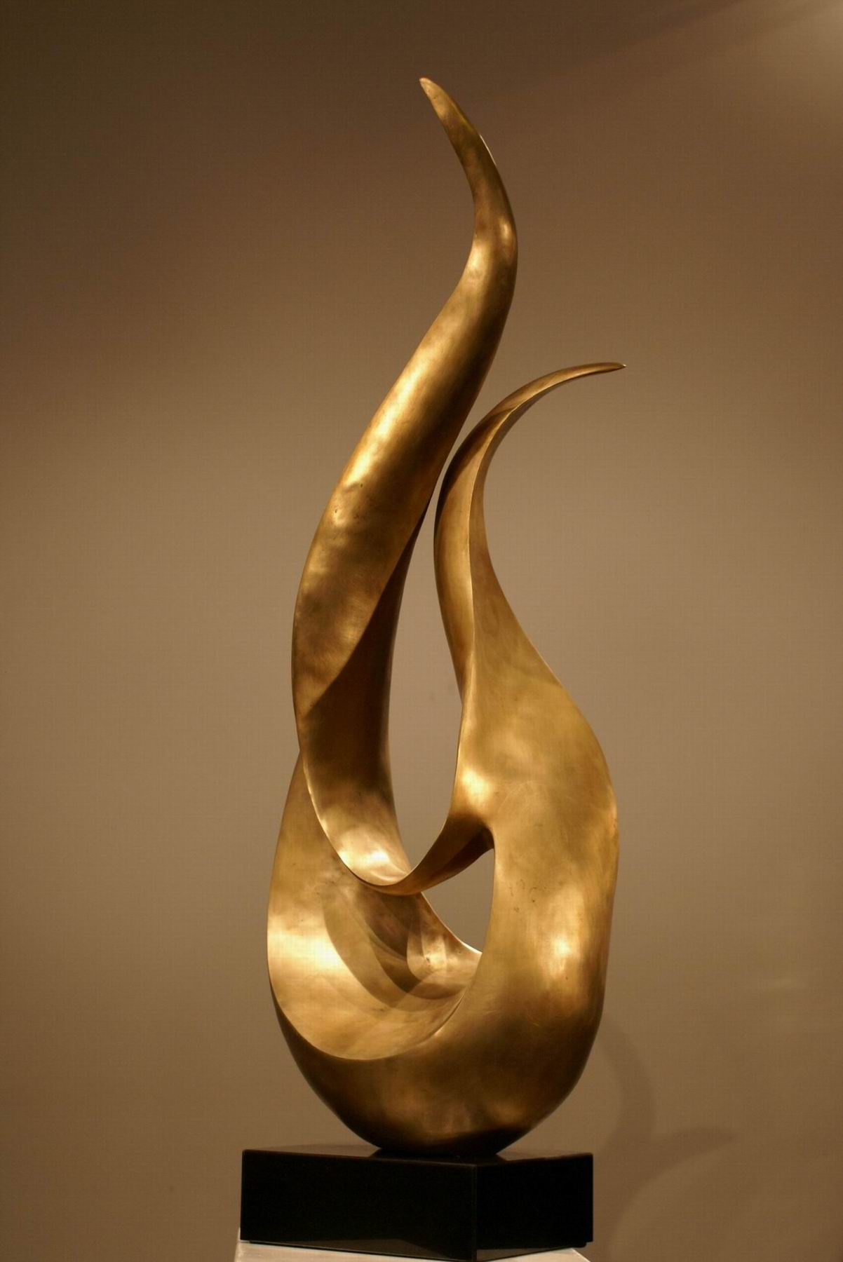 modern abstract copper sculpture,bronze sculpture ...