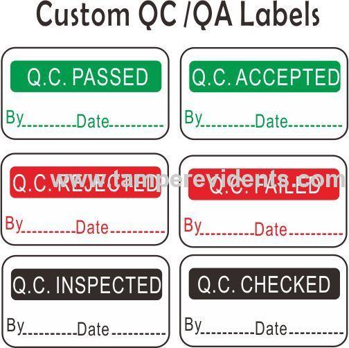 Custom destructive calibration labelstamper evident qc security sealsround destructible calibration void stickers