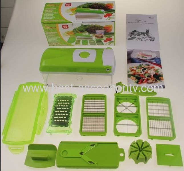 China Fruit Vegetable Genius Nicer Dicer Plus Cutter Chop
