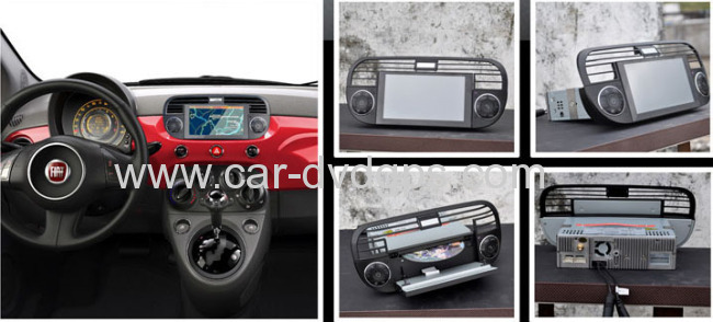 china fiat 500 car radio tv dvd with gps navigation support original car power wire and. Black Bedroom Furniture Sets. Home Design Ideas