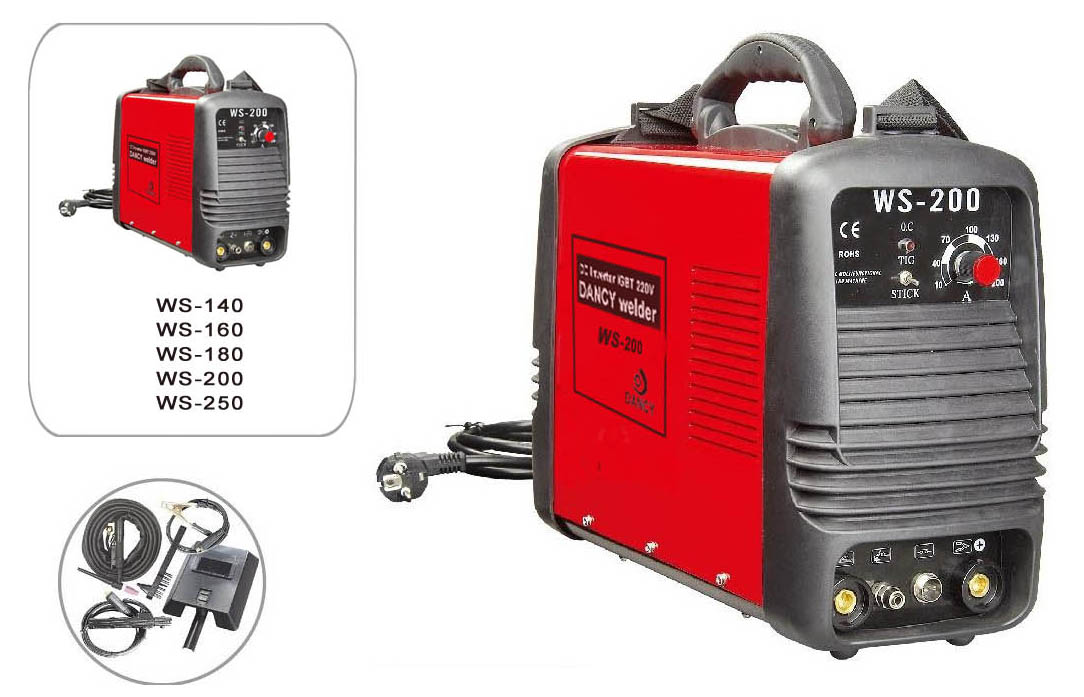 WS tig and mma welding machine with welding accessories
