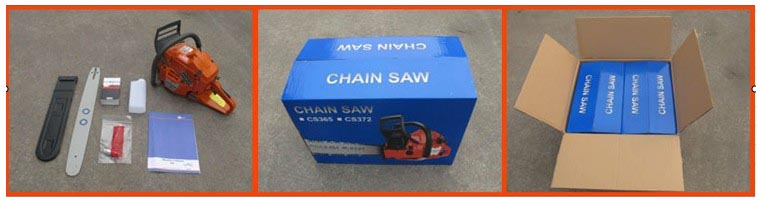 gasoline chain saw packing