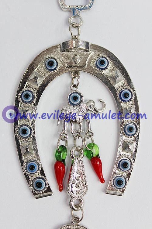 Evil Eye Wall Hanging,Horseshoe Wall Hanging With Turkish Nazar Evil Eye, lucky evil eye, nazar bead, greek evil eye
