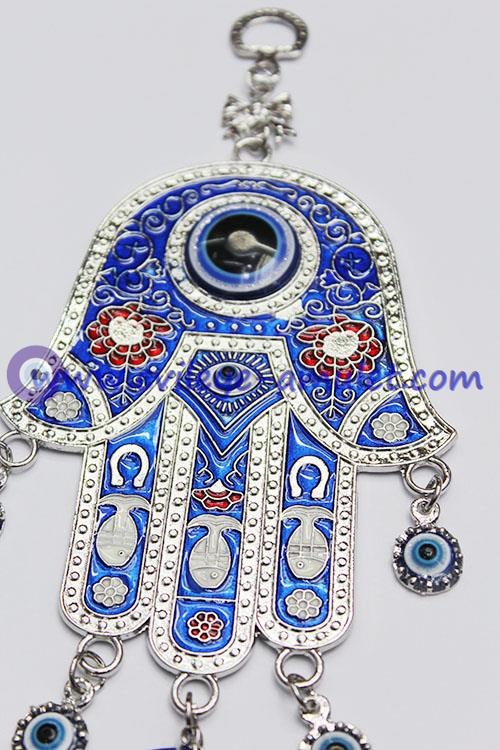 Hamsa Wall Hanging blue hamsa evil eye charm amulet hanging car wall decoration for
