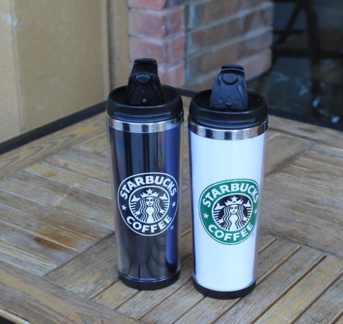 starbucks 420ml double paroi ventouse inox bouteille isotherme. Black Bedroom Furniture Sets. Home Design Ideas
