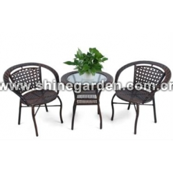 3 Pc Patio Wicker Set