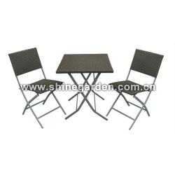 3 Piece Patio Wicker Set