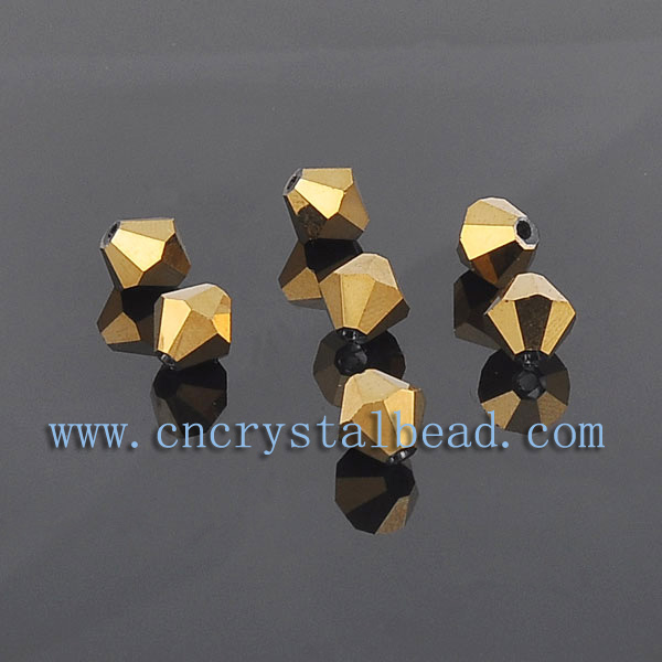 golden color plated beads