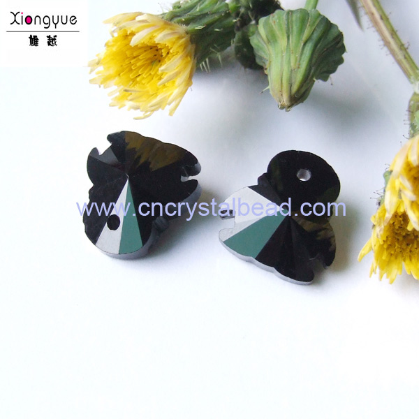 black penguin shape beads