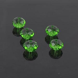 green roundel beads