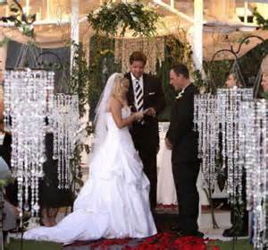 crystal wedding decor