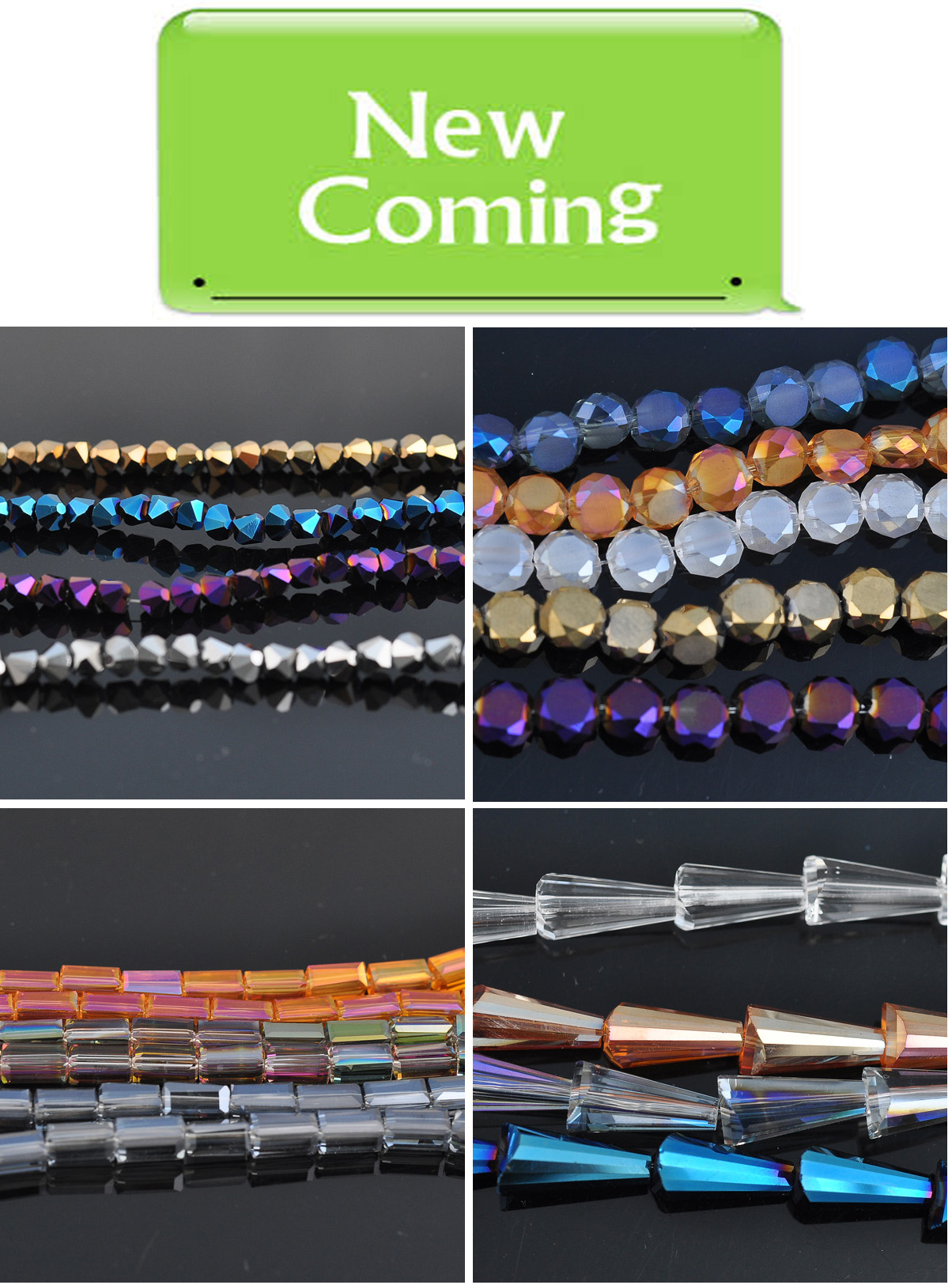 new shape glass beads