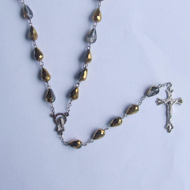 teardrop beaded rosary