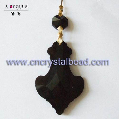 black chandelier drops