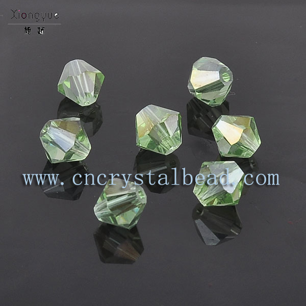green bicon crystal beads