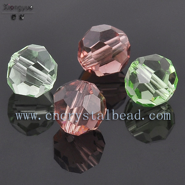 glass faceted round bead
