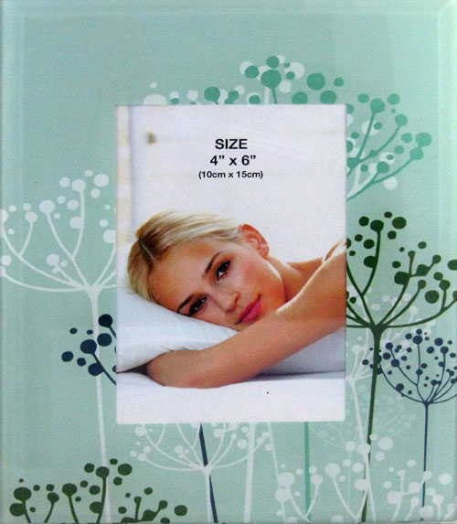 Silk Screen Glass Photo Frame
