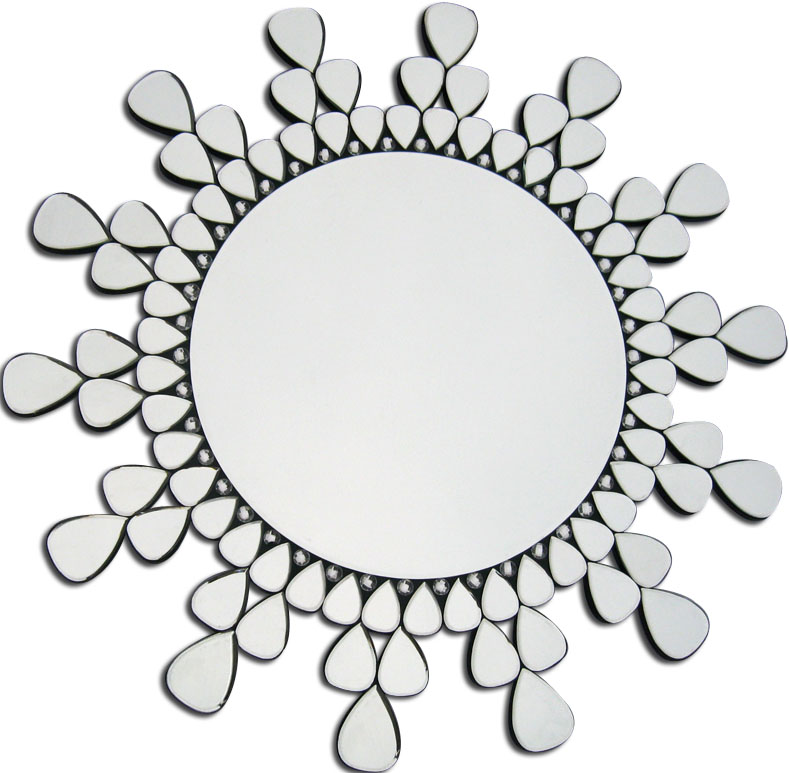 Round Antique Silver Wall Mirror