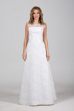 A-Line/Princess Lace Floor Length Bridal Lace Dresses