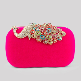Women's Elegant Evening Clutch Bags Flower Evening Handbag Purses For Wedding Prom Bride Girls