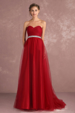 A-Line/Princess Tulle Floor-Length beautiful bridesmaid dresses
