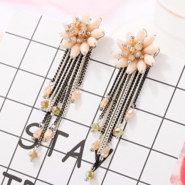 Vintage Bridal Tassel Fashion Jewelry Earrings for Wedding